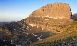 山奥林匹斯山Stefani峰顶在希腊 免版税库存照片