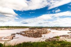 山姆帕纳Boak,泰国风景  库存照片