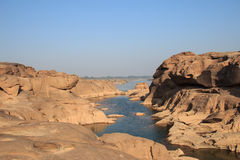 山姆帕纳bok峡谷,泰国 免版税库存照片