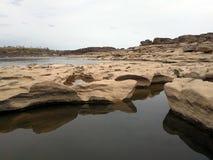 山姆帕纳Bok泰国的大峡谷 免版税库存照片