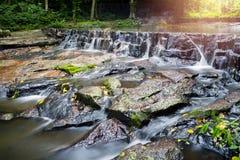 山姆Lun瀑布, Saraburi,泰国 库存图片
