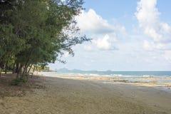 山姆Roi Yod海滩Prachuap Khiri Khan Province.Thailand 图库摄影