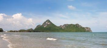 山姆Roi Yod海滩Prachuap Khiri Khan Province.Thailand 库存图片