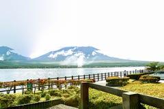 山富士和湖 图库摄影