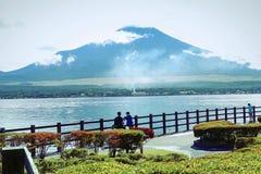 山富士和湖 库存图片