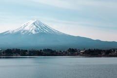 山富士在日本 库存照片