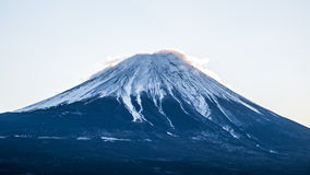 山富士fujisan从山中湖在山梨日本 免版税库存图片