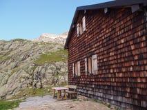 山小屋,南蒂罗尔,意大利,欧洲 免版税库存图片