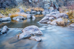 山小河在北科罗拉多 库存照片