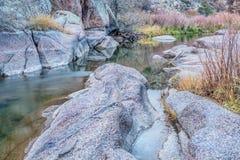 山小河在北科罗拉多 免版税库存图片