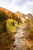 山小河在秋天 库存图片
