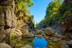 山小河在Geres 免版税图库摄影
