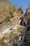 山小河峡谷 库存图片