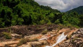 山小河看法在石头中的在热带公园 股票录像