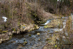 山小河美丽的景色在德国 库存照片