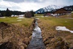 山小河iin德国美丽的景色  免版税图库摄影