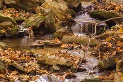 山小瀑布瀑布 库存图片