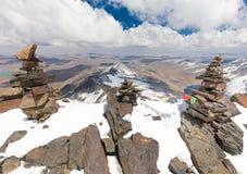 山山顶土坎,真正的山脉,玻利维亚 免版税图库摄影