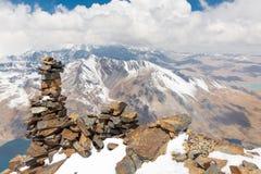 山山顶土坎,真正的山脉,玻利维亚 库存照片