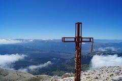 山山顶风景 免版税库存图片