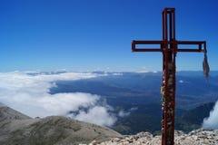 山山顶风景 免版税图库摄影