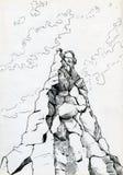 山山顶 免版税库存图片