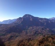 山岩石地形 免版税库存照片