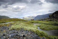 山岩石的挪威 免版税库存照片