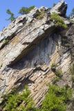 山岩石端 免版税库存照片
