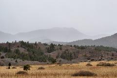 山岩石雪风暴 库存照片