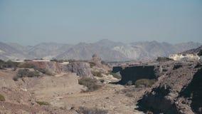 山岭地区在东方国家 沙漠自然 股票视频
