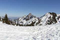 山峰在巴法力亚阿尔卑斯 免版税库存照片