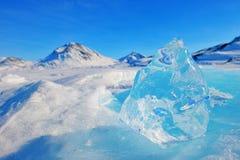 山峰在格陵兰 免版税库存图片
