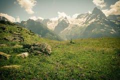 山峰环境美化有谷的一张顶视图在clea的 免版税库存图片