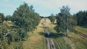 山峰空中寄生虫视图与森林在上面,Russi的 影视素材