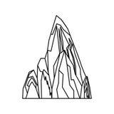 山峰传染媒介被隔绝的象或象征 向量例证. 插画 包括图片