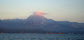 山帽云, Tahtaladagi,土耳其 库存图片