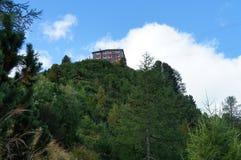 山房子在Stubai阿尔卑斯 图库摄影