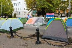 黑山抗议 库存图片