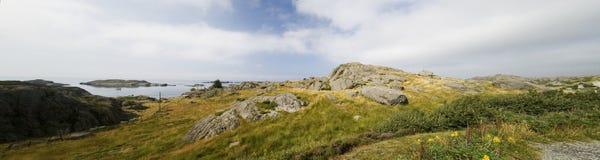 山挪威全景 库存图片