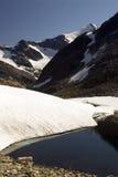 山挪威峰顶 免版税库存照片