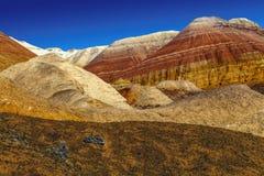 山断层块的心脏在全国自然公园 免版税库存图片