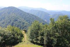 山斯洛伐克 Mala Fatra 一点Fatra Carpathians山 库存图片