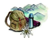 山旅游业象征 向量例证
