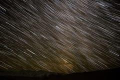 山星跟踪天空 免版税图库摄影