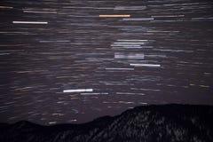 山星跟踪天空 库存图片