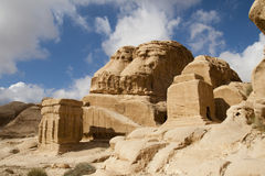 山是最近的Petra,乔丹 库存照片