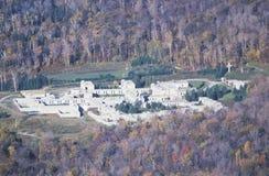 山昼夜平分点修道院在佛蒙特 免版税库存照片