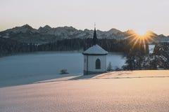 山景到allgäu阿尔卑斯里 免版税图库摄影