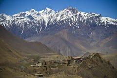 山景在喜马拉雅山 免版税库存照片